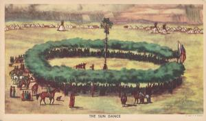 Sun Dance - Indian Ceremony by Indian Artist Andrew Standing Soldier