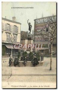 Old Postcard Statue of Liberty Locksmith Jallat Clermont Ferrand