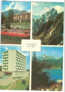 Slovakia, VYSOKE TATRY, 1968 used Postcard