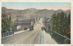 POCATELLO , Idaho , 1910s ; Center Street from Viaduct