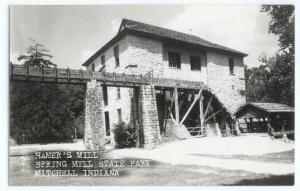 RPPC of Hamer's Mill, Spring Mill State Park, Mitchell, Indiana, IN, EKC Real Ph