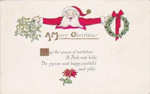 CHRISTMAS ; Santa Claus , mistletoe & wreath , 00-10s