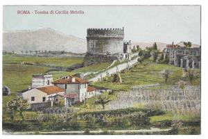 Italy Rome Tomba Cecilia Metella Appian Way Tomb Postcard