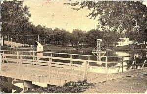 Forest Park Atchison Kan. Kansas Vintage Postcard Standard View Card