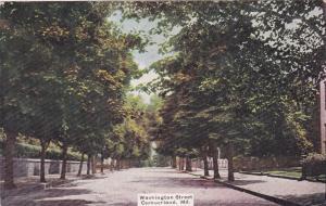 CUMBERLAND , Maryland ,1910; Tree-Lined, Washington Street