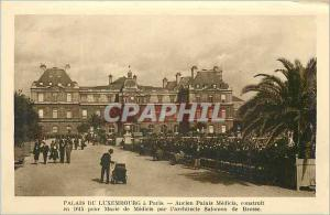 Postcard Old Luxembourg Palace in Paris Former Palace Medicis