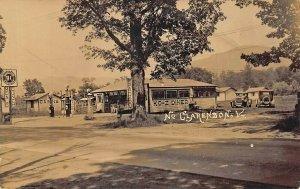 Clarendon VT Sinclair Gas Station KO-Z Diner Old Cars Real Photo Postcard