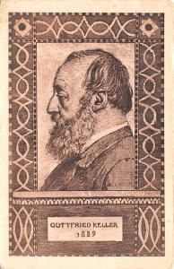Switzerland Old Vintage Antique Post Card Guttfried Keller 1889 1919