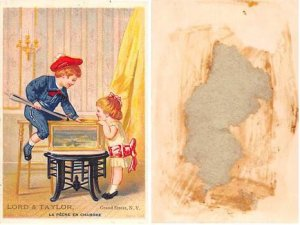 Victorian Trade Card Approx size inches = 3 x 4.25 Pre 1900 paper and dried g...