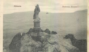 Postcard Croatia Abbazia Madonna Sirocco