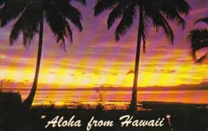 Hawaii Aloha With Tropical Sunset 1974