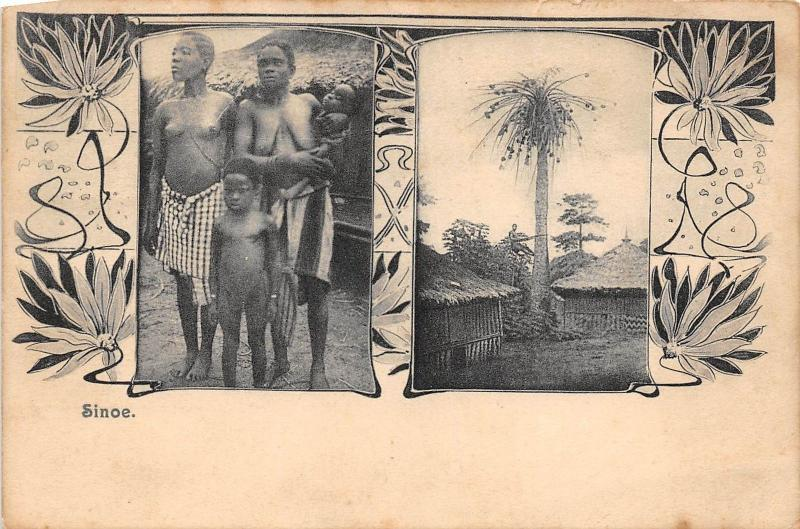 BG32696 liberia  types folklore child enfant sinoe