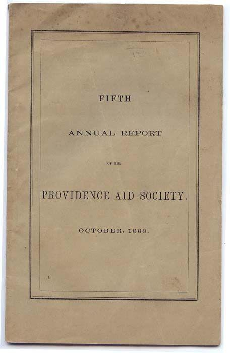 Vintage Booklet,  FIFTH ANNUAL REPORT of The PROVIDENCE A...