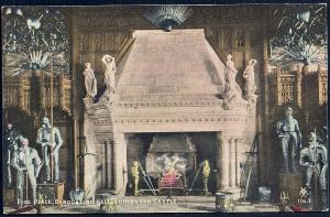 Banquet Hall Fireplace Edinburgh Castle unused c1910's
