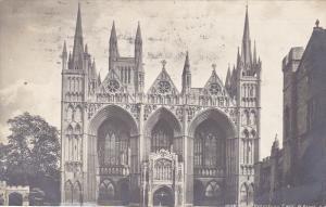Peterboro Cathedral West Front, Cambridge, Cambridgeshire, England, United Ki...