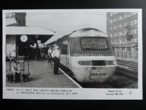 Swindon Railway Station H.S.T. UNIT ON SOUTH WALES SERVICE Pamlin Print PC M3603