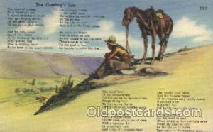 A Cowboy's Life Western Cowboy, Cowgirl Postcard Postcards  A Cowboy's Life