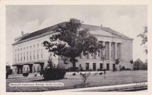 Exterior View, The Memorial Auditorium, Raleigh, North Carolina, 40-60's