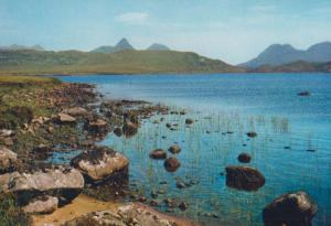Mountain Panorama North West Ross From Loch Owskeich 1970s Postcard