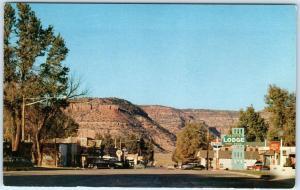 KANAB, Utah UT  Street Scene  LITTLE HOLLYWOOD  c1950s Cars  Postcard