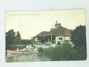 Vintage Postcard 1909 Boat House Washington Park Milwaukee WI Wisconsin