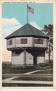 Pennsylvania Erie Anthony Wayne Block House 1933