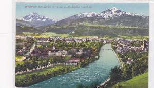 Innsbruck mit Serles (2719 m.) u. Nockspitzer (2406 m.) Tirol, Austria, 00-10s