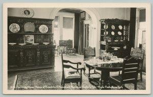 Hyde Park New York~Dining Room~Franklin D Roosevelt~Real Photo Postcard~RPPC
