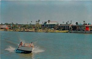 Brownsville Texas~Fort Brown Motor Hotel~Speed Motor Boat Races By~1950s