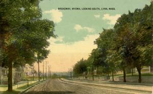 MA - Lynn. Broadway, Wyoma looking South circa 1910
