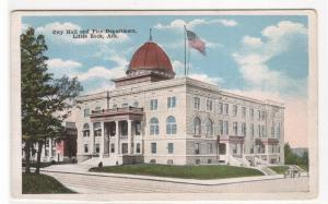 City Hall Fire Department Little Rock Arkansas 1920c postcard