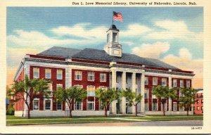 Nebraska Lincoln Don L Love Memorial Library University Of Nebraska 1947 Curt...