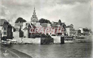 Modern Postcard Roscoff (Finistere) the Houses of Port dominated by Elegante ...