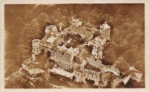 Germany  Heidelberg     Aerial View of   Schloss von Flugzeug aus geshen