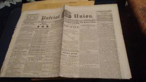 1864 NEWSPAPER PATRIOT UNION $150 or best offer