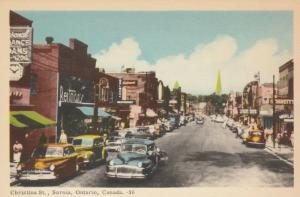 SARNIA , Ontario , Canada , 1930s ; Christina Street