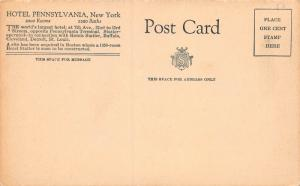 Lobby, Hotel Pennsylvania, New York, N.Y., early postcard, Unused
