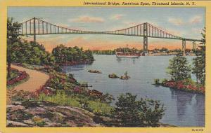 International Bridge, American Span, Thousand Islands, New York,   PU-1952