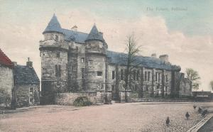 The Royal Palace, Falkland, Fife, Scotland, Hand Colored Postcard, Used in 1907