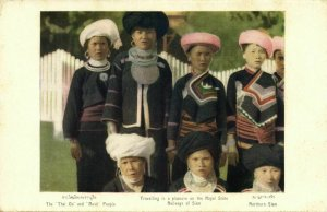 siam thailand, Native Thai Oi & Musö People from the North (1930s) Postcard (2)