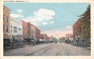 Westfield New York Main Street Antique Postcard (J34370)