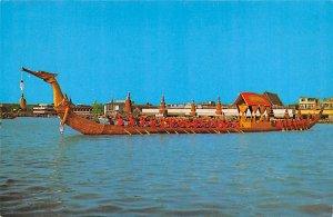 HM the King of Thailand, Royal Barge Srisuphanahongs Bangkok Thailand Writing...