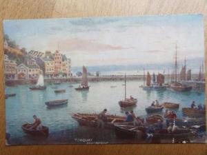 c1906 Tucks - Torquay Inner Harbour by H B Wimbush