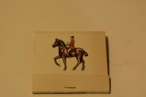 The Old Barn Burbank Illinois Horse and Rider Matchbook