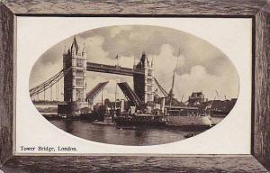 RP, Tower Bridge, Ferry, London, England, UK, 1920-1940s