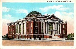 Kansas Newton First Methodist Episcopal Church 1957 Curteich