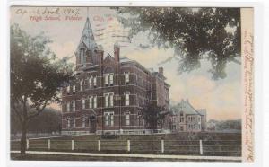 High School Webster City Iowa 1907 postcard