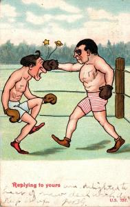 Boxing Humour Replying To Yours 1909