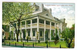 Beehive House, Salt Lake City, Utah, unused Postcard, printed in Germany