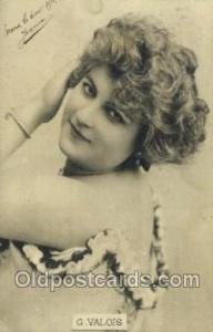 G Valois Foreign Film Stars Old Vintage Antique Postcard Post Card  G Valois